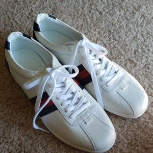 Gucci Guccissima Leather Lace-up Sneakers